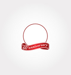 Template logo 60th anniversary with a circle vector