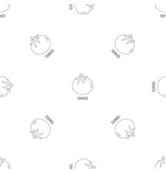 tomato pattern seamless vector image