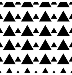 Triangle black seamless pattern vector image