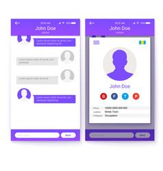Ui concept of mobile app gui design for vector