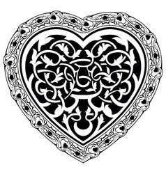 Valentine day tatto heart vector
