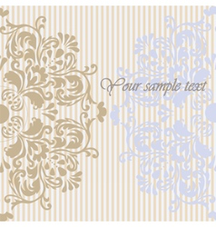 Vintage Invitation Background with ornaments vector