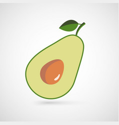 Vocado isolated on a white background vector