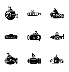 Water craft icons set simple style vector