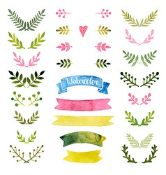 watercolor collection vector image