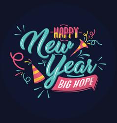 wishing happy new year card vector image