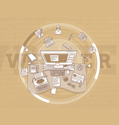 Writer and copywriter - detailed vector