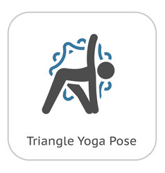 Yoga triangle pose icon flat design isolated vector