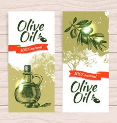 Banner set of vintage olive splash backgrounds vector image vector image