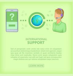 call center concept cellphone girl cartoon style vector image