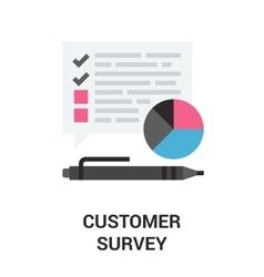 customer survey icon vector image vector image