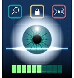 Eye Biometrics vector image vector image