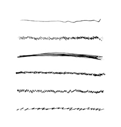 Handdrawn Brushes Set vector image