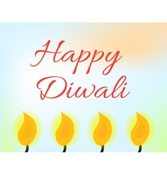 Happy Diwali Indian Festival of Lights Diwali vector image vector image