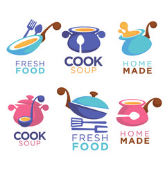 home made food collection of logo symbols and vector image vector image