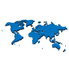 Map of the World with national borders vector image vector image