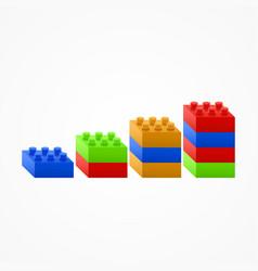 plastic building blocks chart vector image