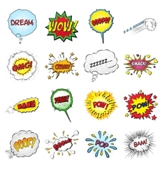 Set of comic sound effects vector image
