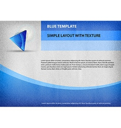 template blue curve vector image