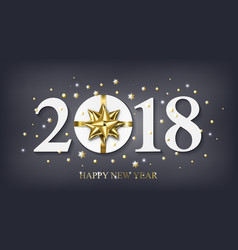 2018 happy new year background with golden vector image