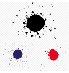 blot on a transparent background vector image