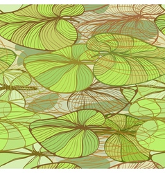 Ffloral pattern with lotus leaves vector