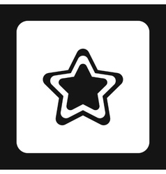 Geometrical figure of five pointed star icon vector image