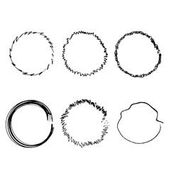 Handdrawn Rings vector image vector image