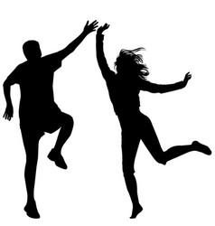 man and woman jumping vector image