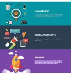 Management digital marketing srartup planning vector image vector image