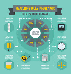 measuring tools infographic concept flat style vector image vector image