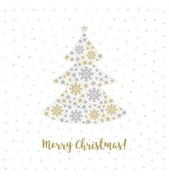 Merry Christmas card Minimalist style Abstract vector image