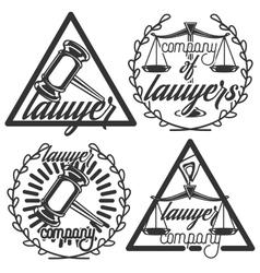 Vintage lawyer emblems vector image