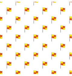 yellow and orange flag with flagpole pattern vector image vector image