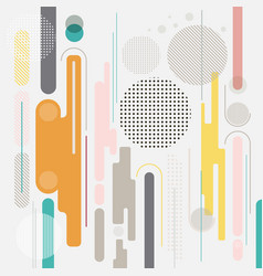 abstract geometric dynamic element multicolor vector image vector image