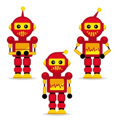 collection robots in action vector image