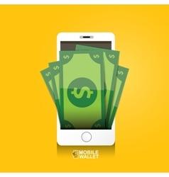 Digital mobile e wallet concept vector