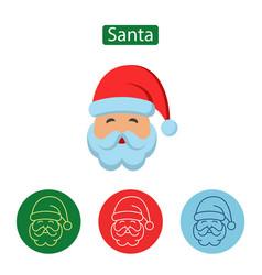 santa claus minimal line stroke icon vector image vector image