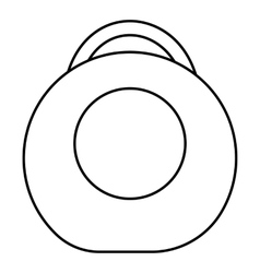 Weight icon outline style vector image