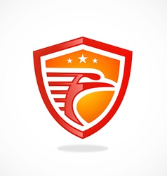 bird eagle mascot shield logo vector image