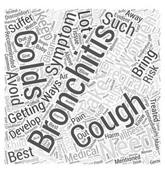 bronchitis and pregnancy Word Cloud Concept vector image