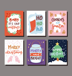 christmas party invitation card design vector image