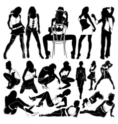 fashion sexy women vector image