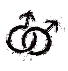 Homosexual mans love vector image vector image