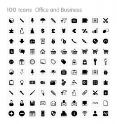 icons office and business vector image