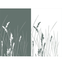 real grass silhouette 2 colors vector image