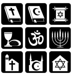 Religion icons vector