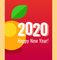 2020 happy new year poster vertical orientation vector image