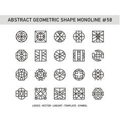 Abstract geometric shape monoline 58 vector