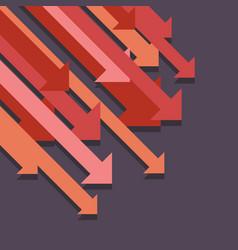 Abstract graph down arrows vector